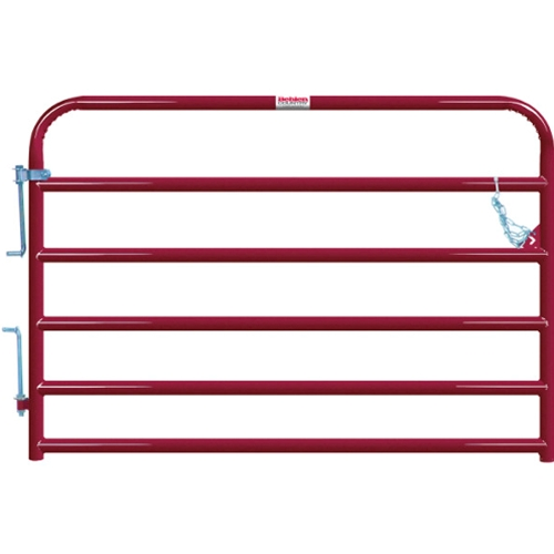 "Gate Cattle 6' 6 Rail 2"" Red"