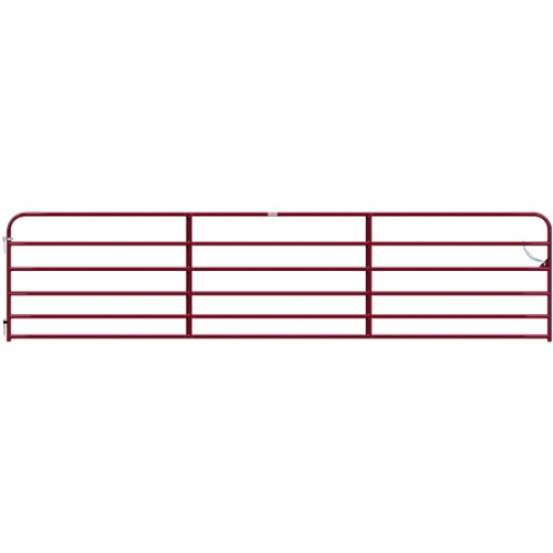"Gate Pipe 18' 6 Bar 50X1-3/4"" Red"