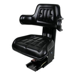 Seat Tractor With Adjacent Suspender 5POS Black