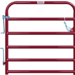 "Gate Cattle 4' 6 Rail 2"" Red"