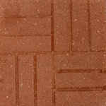 Block Square Red Brickface 16""