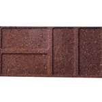 "Block Patio Brickface Red 8""X16"""