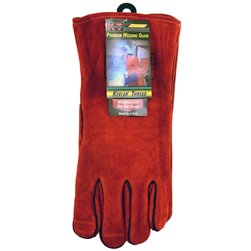 Gloves Welding Red Lined