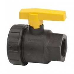 "Ball Valve 1-1/4"" Union Single Poly"