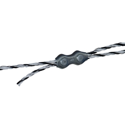 Clamp Polywire 3mm Double 4 Pack